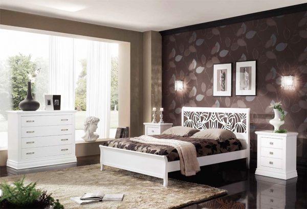 Spavaća garnitura - bračni krevet, noćni stočić i orman - CN-132